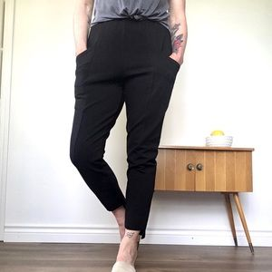 Ayrtight 🇨🇦 Black Trouser Pants w Stepped Hem